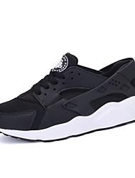 Femme-Sport-Noir Blanc Rouge noir Noir blanc-Talon Plat-Confort-Chaussures d'Athlétisme-Tissu
