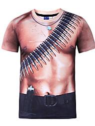 Men's Print Casual / Formal / Sport / Plus Size T-Shirt