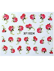 Nail Art Tips Stickers Flower Nail Design Manicure Decals Nail Art Water Transfer Foil Wraps