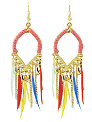 Earring Geometric Jewelry Women Fashion / Bohemia Style Party / Daily / Casual Alloy / Feather 1 pair Gold KAYSHINE
