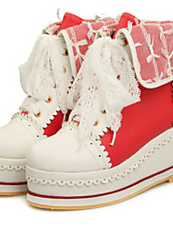 Women's Boots Spring / Fall / Winter Fashion Boots / Combat Boots Leatherette Outdoor /Casual Wedge HeelSplit Joint /
