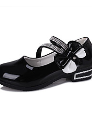 Girl's Oxfords Spring / Fall Comfort / Round Toe PU Dress Low Heel Others / Hook & Loop Black / Pi