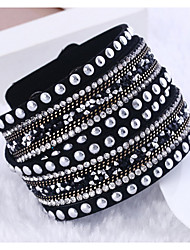 Wrap Bracelets Rhinestone Christmas Gifts
