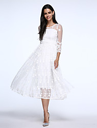 Women's Vintage Casual Micro Elastic  Sleeve Maxi Dress (Lace)