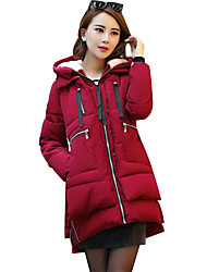 Women's Popular Solid All Match Padded Coat Simple Hooded Long Sleeve Plus Size
