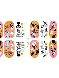 Fashion Charmming Halloween Noctilucent Frozen Goblin Candy Nail Decal Art Sticker Gel Polish Manicure