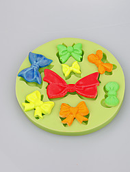 Different bow shapes chocolate DIY fondant cake decoration silicone mold kitchen bakeware