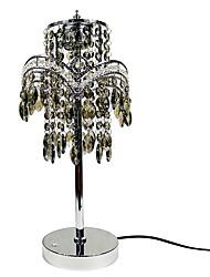 5 Moderne/Contemporain Lampes de bureau , Fonctionnalité pour Cristal , avec Galvanisé Utilisation Toucher Interrupteur