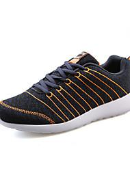 Femme-Décontracté / Sport-Noir / Gris / Orange-Talon Plat-Confort / Bout Arrondi-Sneakers-Tulle