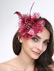 Damen Feder Tüll Acryl Kopfschmuck-Hochzeit Besondere Anlässe Blumen 1 Stück