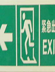 Pvc Coated Luminous Fire Evacuation Alert Channel Emergency Exit Signage Safety Instructions