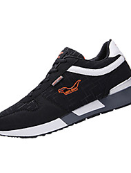 Men's Sneakers Spring / Fall Comfort / Round Toe Fabric Athletic Flat Heel Lace-up Black / Blue / Coffee Sneaker