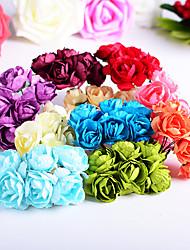 Papel Acetinado Decorações do casamento-72Peça/Conjunto Flor ArtificialAção de Graças Noivado Aniversário de Casamento Ano Novo Casamento
