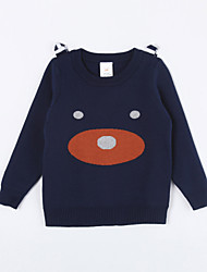 Girl's Casual/Daily Animal Print Sweater & CardiganCotton Fall Blue