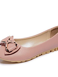Women's Flats Comfort / Flats Leatherette Outdoor / Office & Career / Casual Flat Heel Bowknot / Lace-up