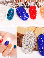 500pcs Nail Art Décoration strass Perles Maquillage cosmétique Nail Art Design