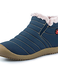 Men's Boots Winter Snow Boots / Comfort Cotton / Fabric Outdoor Flat Heel Others Blue / Gray Walking / Snow Boots