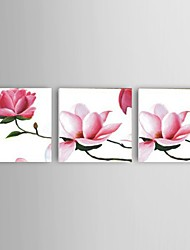 Ready to Hang Hand-Painted Pink Peach Flower Oil Painting Wall Art Modern Home Office Corridor Decor Stretched Frame