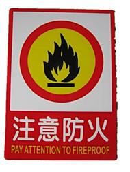signes avertissent l'attention de salaire fluorescent au feu marque de sécurité de licence un pack de trois pour acheter un paquet d'un