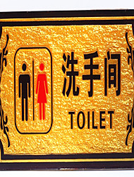 Toilet Signs Signage Hotels Relief Nameplate Signs Prompt Card Xin
