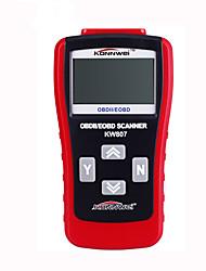 código auto ventas al por mayor caliente escáner de código de OBDII EOBD kw807 escáner lector de qa