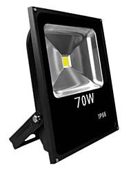 70w теплый / холодный белый цвет черный ультра тонкий ip65 открытый светодиодный прожектор светодиодные лампы (AC85-265V)