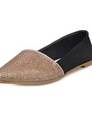 Women's Flats Fall Comfort PU Casual Flat Heel Split Joint Silver / Gold Others