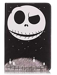 Pour Porte Carte / Portefeuille Coque Coque Intégrale Coque Crâne Dur Cuir PU Apple iPad Mini 4 / iPad Mini 3/2/1