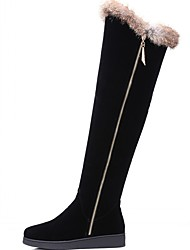 Feminino-Botas-Plataforma Conforto Inovador Botas de Cowboy Botas de Neve Plataforma Básica Botas Montaria Botas da Moda Botas de
