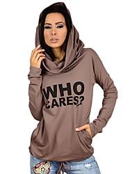 Aliexpress ebay amazon hot who hoodie lettres imprimé à manches longues loose, t-shirt décontracté
