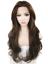 IMSTYLE 26Brown Long Wave Top Quality Heavy Density Synthetic Wigs Lace Front