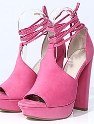 Women's Sandals Summer Heels / Peep Toe / Platform Fabric Party & Evening / Dress / Casual Chunky Heel