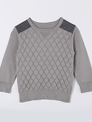 Boy's Casual/Daily Solid Sweater & Cardigan,Cotton Fall Gray