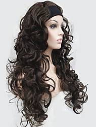 Half wig 3/4 wigs With Headband Long Curly Synthetic Hair Wig for Women