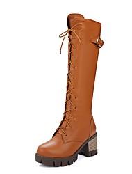 Dames Hoge hakken Lente / Zomer / WinterHoge hakken / Platform / Cowboy/Westernlaarzen / Snowboots / Korte laarsjes / Ronde neus /