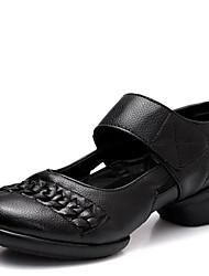 Chaussures de danse(Noir / Rouge / Blanc) -Non Personnalisables-Talon Bas-Cuir-Moderne