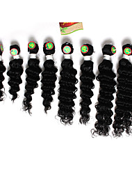 8-12inch 8 pcs /lot Brazilian deep Wave Virgin Hair Brazilian Virgin Hair deep Wave Hair Weave Bundles cheap human hair