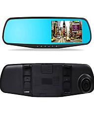 4,3-Zoll-Rückspiegel treibender Recorder Doppelobjektiv HD Nachtsicht 1080p Parküberwachung