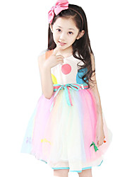 Girl's Casual/Daily Polka Dot DressOthers Summer Multi-color / Pink / White