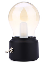 Retro 10W LED USB Rechargeable Globe Light Bulb Warm White Table Lamp(Black&Gold) DC5V