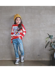 Girls' Casual/Daily Solid Jeans-Cotton Fall