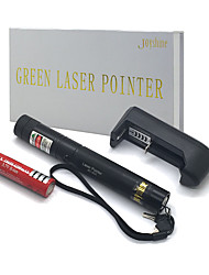 JD303 High Power Green Beam Adjustable Laser Pointers Pen (5MW, 532nm, 1x18650 Batterie + Charger) Black