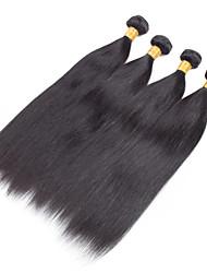 4 Stück Gerade Menschliches Haar Webarten Brasilianisches Haar 100grams 8inch to 30inch Haarverlängerungen
