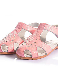 Girl's Sandals Summer Leather Casual Flat Heel Others Pink Red White Others