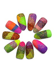 3g Bottle Dazzling Mixed Color Nail Sugar Glitter Dust Powder Beauty Pigment Sequins Manicure Decor #511-522