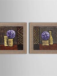 Peint à la main Abstrait / Paysage / Fantaisie / A fleurs/Botanique Peintures à l'huile,Style européen / Modern / Réalisme Deux Panneaux
