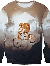 New Fashion Men Bicycle Printed Pullover Long Sleeve 3d Sweatshirt
