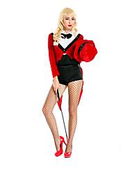 Costumes de Cosplay / Costume de Soirée Burlesques/Clown Fête / Célébration Déguisement Halloween Rouge / Noir Couleur PleineHaut /