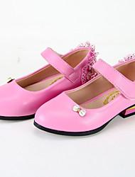 Girls' Flats Spring Fall Ballerina Leatherette Casual Flat Heel Bowknot Black Fuchsia Blushing Pink