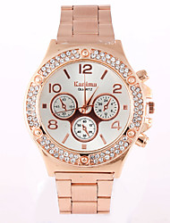 Women's Fashion Watch Simulated Diamond Watch / Imitation Diamond Swiss Designer Quartz Alloy Band Casual Silver Gold Rose Gold